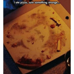 Pizza, Saw, and German: I ate pizza, saw something strange. German pizza