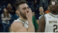 Sports, Afghanistan, and Ati: I ATI  NOTRE All the feels. @ndmbb's @matty_farr3 gets surprised by his brother's early return from Afghanistan. 🙏 BRxND