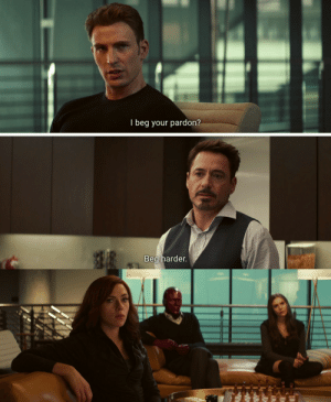 tony-stark-the-irondad:  betterthanakalashnikov:  hot-retired-cupid:  caprogerz: littlewitchmaximoff:   call-me-xenophon:  Wanda seems more confused than ever.Inspiration: @itsallavengers  @caprogerz @tony-stark-the-irondad @betterthanakalashnikov someone explain.    I have absolutely no idea  Tony is channelling his inner daddy  cease and desist  Never : I beg your pardon?  Beg harder. tony-stark-the-irondad:  betterthanakalashnikov:  hot-retired-cupid:  caprogerz: littlewitchmaximoff:   call-me-xenophon:  Wanda seems more confused than ever.Inspiration: @itsallavengers  @caprogerz @tony-stark-the-irondad @betterthanakalashnikov someone explain.    I have absolutely no idea  Tony is channelling his inner daddy  cease and desist  Never