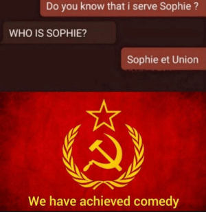 """I believe he meant """"*did you know WE seeve sophie"""": I believe he meant """"*did you know WE seeve sophie"""""""
