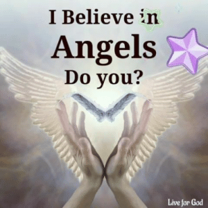 <3: I Believe in  Angels  Do you?  Live for God <3