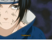 Target, Tumblr, and Blog: I believe it. flaahffy:  Sasuke finally believes it.