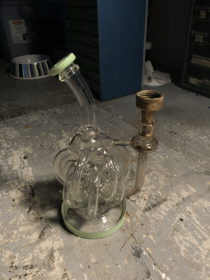 I broke my bowl. So I found a garden hose nozzle, and it works even better.: I broke my bowl. So I found a garden hose nozzle, and it works even better.