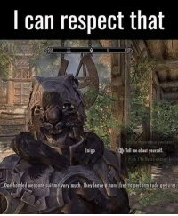 QOTP: Favourite Khajiit characters in Skyrim? ~ (This is a mod btw.) ~ Repost from @ninjahmad ~ Accounts: - Other TES IG: @tundraofskyrim - Twitter: skyrim_dragon_ - Snapchat: cocoachicken - YouTube: Link in bio. - Personal: @holly_rowlands_ • tes elderscrolls theelderscrolls elderscrollsv theelderscrollsv elderscrollsonline eso tamriel skyrim skyrimmeme skyrimmemes gaming game games rpg dovahkiin Dragonborn Bethesda dragon dragons khajiit inigo tinysmile: I can respect that  Tell me about yourself.  Inigo  20ndhonded weoponssuitme very much. They leavee hond free operform rode gosturesa QOTP: Favourite Khajiit characters in Skyrim? ~ (This is a mod btw.) ~ Repost from @ninjahmad ~ Accounts: - Other TES IG: @tundraofskyrim - Twitter: skyrim_dragon_ - Snapchat: cocoachicken - YouTube: Link in bio. - Personal: @holly_rowlands_ • tes elderscrolls theelderscrolls elderscrollsv theelderscrollsv elderscrollsonline eso tamriel skyrim skyrimmeme skyrimmemes gaming game games rpg dovahkiin Dragonborn Bethesda dragon dragons khajiit inigo tinysmile
