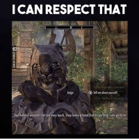 Respect, Rude, and Video Games: I CAN RESPECT THAT  Tell me about yourself.  Inigo  one honded weapons suitme very much. They leove hond free to perform rude gestures. Obviously