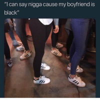 "This is worse then when every nigga had cargo shorts: ""I can say nigga cause my boyfriend is  black"" This is worse then when every nigga had cargo shorts"