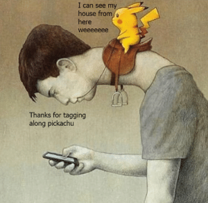My House, House, and Can: I can see my  house from  here  weeeeeee  Thanks for tagging  along pickachu Oof ouch owie my neck