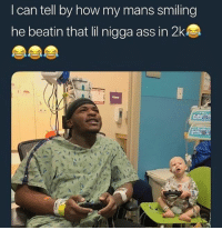 Ass, Memes, and Wshh: I can tell by how my mans smiling  he beatin that lil nigga ass in 2ks  UKE He ain't showin' no mercy! 😂 WSHH