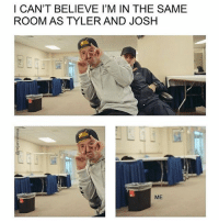 Memes, 🤖, and Fun: I CAN'T BELIEVE I'M IN THE SAME  ROOM AS TYLER AND JOSH  ME Really hyped for this summer cuz I planned a fun trip where I'm going to lollapalooza with @drummingdun (hopefully) and staying in Chicago for a while, and then driving from Chicago to Columbus to see vesperteen and meet @cassiehw @anactressatheart and some other cool internet friends, and idk I'm so hyped for it and it's still about 4-5 months away lol