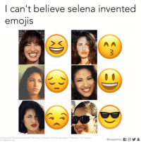 The muse.: I can't believe selena invented  emojis  photocredit Selena Quintanilla YouTube Univision Felicia Gonzalez/Pinterest The Inquisitr  @wearermitu If CO 1  emo pedia org The muse.