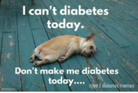 Who else feels this sometimes?: I can't diabetes  today.  Don't make me diabetes  today....  type 1 diabetes memes Who else feels this sometimes?