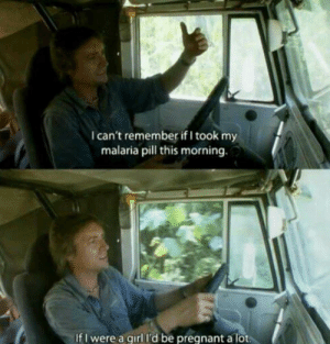 Classic Top Gear!: I can't remember if I took my  malaria pill this morning.  If I were a girl l'd be pregnant a lot Classic Top Gear!