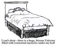 bizzare: I can't sleep - there is a huge, bizzare Universe  filled with existential mysteries under my bed!