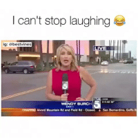 Memes, 🤖, and Gold: I can't stop laughing  ig  @bestvines.  LIVE  615 AM  WENDY BURCH  DO  TRAFFICANvord Mountain Rd and Field Rd-closed.  San Bernardino, Goffs R ⠀ 🌱This Compilation Is Gold! 😂