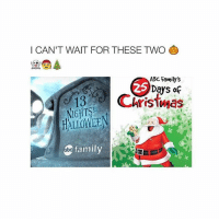 Abc, Christmas, and Family: I CAN'T WAIT FOR THESE TWO  ABC Family's  Days of  Christmas  HALLOWEE  family goodnight