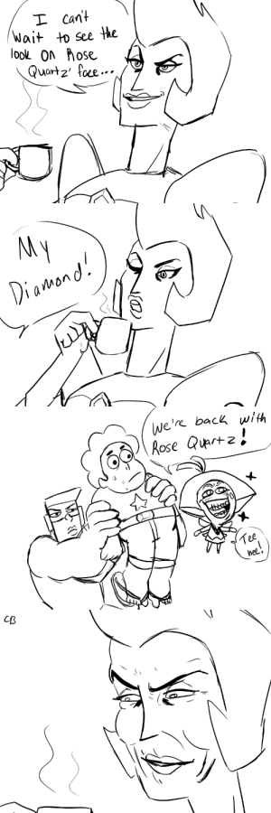 Diamond, Rose, and Back: I Cant  Wait  to See the  loo On ose  Quartz foe..   My  Diamond   We're back with  Rose Quartz  Tee  hee!   CB