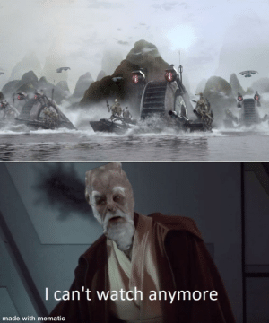 What about the droid attack on the wookies?: I can't watch anymore  made with mematic What about the droid attack on the wookies?