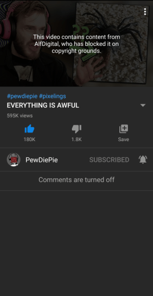 I can't watch felix's latest video: I can't watch felix's latest video
