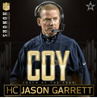 .@dallascowboys HC Jason Garrett is the 2016 Coach of the Year! NFLHonors: I  COACH OF THE YEAR  | HC JASON GARRETT  EA-R  NATIONAL FOOTBALL LEAGUE  HONORS .@dallascowboys HC Jason Garrett is the 2016 Coach of the Year! NFLHonors