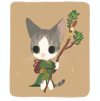 Cats, Cute, and Memes: I commissioned @strangelykatie to draw my cats as RPG characters! Maxwell is a healer, and Pepper's a witch! They were a total steal at $45 each, and they're so cute! I'm not sure how many commission slots she has open, but check her out!