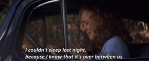 https://iglovequotes.net/: I couldn't sleep last night,  because I know that it's over between us. https://iglovequotes.net/