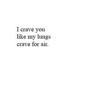 Net, Air, and You: I crave you  like my lungs  crave for air. https://iglovequotes.net/