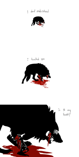 cheshidoodles: why else would you hurt me?: I dent une rstand   i frysted \sa   s tmy  ault?  1S  2 cheshidoodles: why else would you hurt me?
