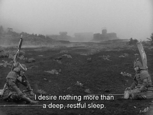 Tumblr, Blog, and Http: I desire nothing more than  a deep, restful sleep weltschmerzzz: Throne of Blood, 1957 - Akira Kurosawa