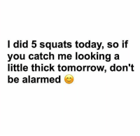 Tag friends 😏😎 FOLLOW US➡️ @so.mexican: I did 5 squats today, so if  you catch me looking a  little thick tomorrow, don't  be alarmed Tag friends 😏😎 FOLLOW US➡️ @so.mexican