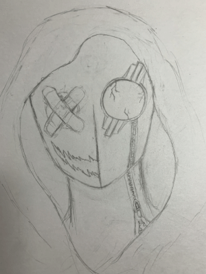 I did this doodle of a mask guy I made up for an OC character. What should I fix or add to make it look cooler?: I did this doodle of a mask guy I made up for an OC character. What should I fix or add to make it look cooler?