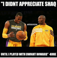 """Savage💀😂: """"I DIDNT APPRECIATE SHAQ  @PERSOURCES14  LOS ANGELES  BASKETBALL  DNIGT  NIaIV  UNTILIPLAYED WITH DWIGHT HOWARD""""-KOBE Savage💀😂"""
