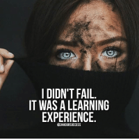 No failures ✅: I DIDN'T FAIL  IT WAS A LEARNING  EXPERIENCE  @24HOURSUCCESS No failures ✅