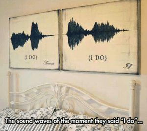 awesomesthesia:  The Sound Of Love: I DO  I DO  Aamanda  The sound waves ofthe moment they safddo awesomesthesia:  The Sound Of Love