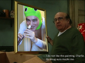 https://t.co/Y8ZjLr11tA: I do not like this painting, Charlie.  Its smug aura mocks me. https://t.co/Y8ZjLr11tA
