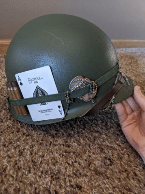 I don't have anywhere else to post this, but here is my custom M-1 helmet design: by ProfesserKnox MORE MEMES: I don't have anywhere else to post this, but here is my custom M-1 helmet design: by ProfesserKnox MORE MEMES