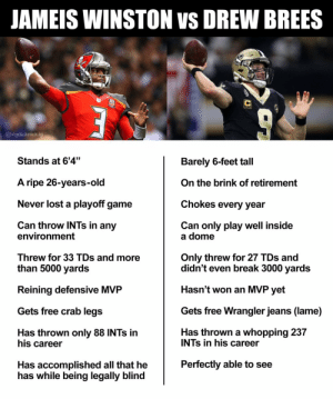 I don't know how you start Brees over Jameis if you're New Orleans. Just look at the facts... https://t.co/XOpgdchjpV: I don't know how you start Brees over Jameis if you're New Orleans. Just look at the facts... https://t.co/XOpgdchjpV