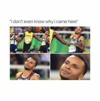 "omg: ""i don't even know why i came here""  AMAICA  BOLT  CANOA  CAN A  JA H  EGRASS omg"