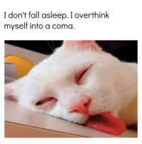 Fall, Coma, and Myself: I don't fall asleep. I overthink  myself into a coma