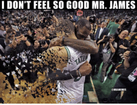 Celtics after Game 7. https://t.co/2XNHpSh3mM: I DON'T FEEL SO GOOD MR. JAMES  @NBAMEMES Celtics after Game 7. https://t.co/2XNHpSh3mM