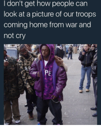 Blackpeopletwitter, Home, and Michael: I don't get how people can  look at a picture of our troops  coming home from war and  not cry  PE <p>It's Weezy F. Baby and the F is for First Infantry Division, Major General Dwayne Michael Carter Jr. (via /r/BlackPeopleTwitter)</p>