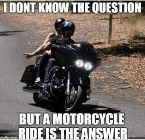 Motorcycle: I DONT KNOW THE QUESTION  BUTA MOTORCYCLE  RIDEIS THE ANSWER