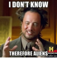 giorgio tsoukalos: I DON'T KNOW  THEREFORE ALIENS  rator CO