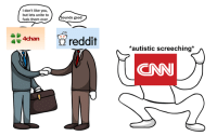 """4chan, cnn.com, and Dank: I don't like you,  but lets unite to  fuck them over  ounds good  4chan  reddit  *autistic screeching*  CNN <p>The Meme Pact (by Anglo-Man ) via /r/dank_meme <a href=""""http://ift.tt/2sLETbZ"""">http://ift.tt/2sLETbZ</a></p>"""