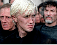 """Memes, Prince, and Help: """"I don't need your help! Don't you understand? I have to do this! I have to kill you...Or he's gonna kill me!"""" -Draco Malfoy, the Half Blood Prince (image from the deathly hallows pt 2) harrypotter"""