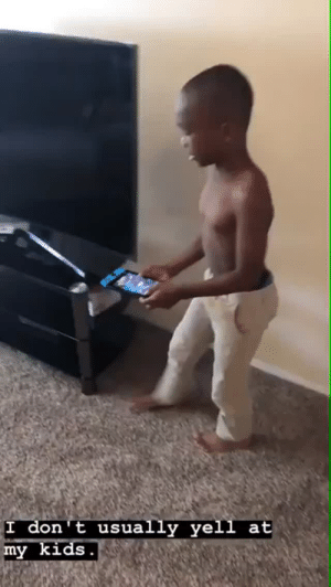 """Love, Tumblr, and I Love You: I don't usually yell at  my kids tfry1440: thatpettyblackgirl:   You can even tell he's not doing this just for the camera because when  he says """"You!"""" in the beginning the kid doesn't get scared!The way he's smiling brings me SO MUCH joy. This is great motivation he is a great father and even better example for black men     The yelling I LOVE YOU killed me 😭😂"""