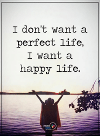 Energy, Life, and Memes: I don't want a  perfect life,  I want a  happy life.  POSITIVE  ENERGY Positive Energy+