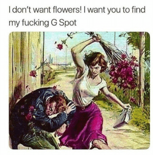 Sexy, sexy memes for you and yours. #Memes #Sex #Entertainment #Horny: I don't want flowers! I want you to find  my fucking G Spot Sexy, sexy memes for you and yours. #Memes #Sex #Entertainment #Horny