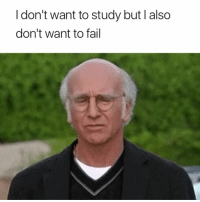 Fail, Study, and  Want: I don't want to study but I also  don't want to fail 🧐🧐