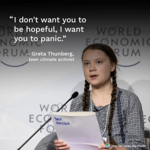 "*changes one character* IDE:: I don't want you to  BRbe hopeful, I want  NYOU to panic.""  RUM  WORLD  FONOMI  RUM  Greta Thunberg,  teen climate activist  WOR  ECO  The s  BADMSA  This Tab Helps the Planet *changes one character* IDE:"