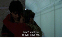 You, Ever, and  Want: I don't want you  to ever leave me